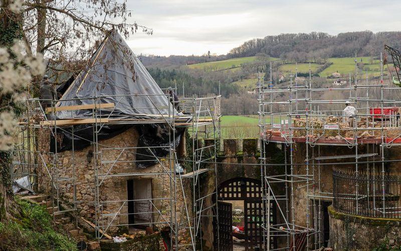 les tours en travaux chateau de saint dau